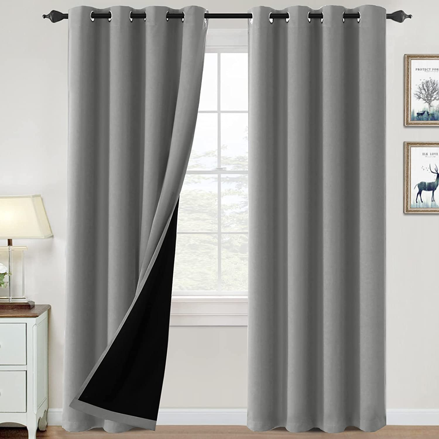 100% Discount is also underway Blackout Curtains for Cu Bedroom free Insulated Thermal