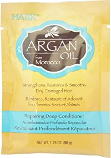 Hask Argan Oil From Morocco Repairing Deep Conditioner, Hair Treatment 1.75 oz ( Pack of 5)