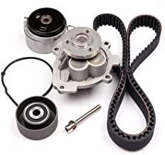 OCPTY Timing Belt Kit Including Timing Belt Water Pump with Gasket tensioner Bearing etc, Compatible for 2009 2010 2011 Chevrolet Ave/2009 2010 Pontiac G3/2008 2009 Saturn Astra/2009 Suzuki Swift+
