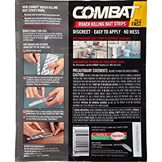 Combat Roach Killing Bait Strips, Large & Small Roaches, 10 Count