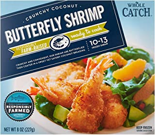 Whole Catch, Crunchy Coconut Butterfly Shrimp, 8 oz, (Frozen)