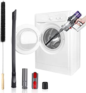 LANMU Dryer Vent Cleaning Kit, Flexible Extension Vacuum Hose Adapter Attachment Duct Brush Lint Cleaner Tools