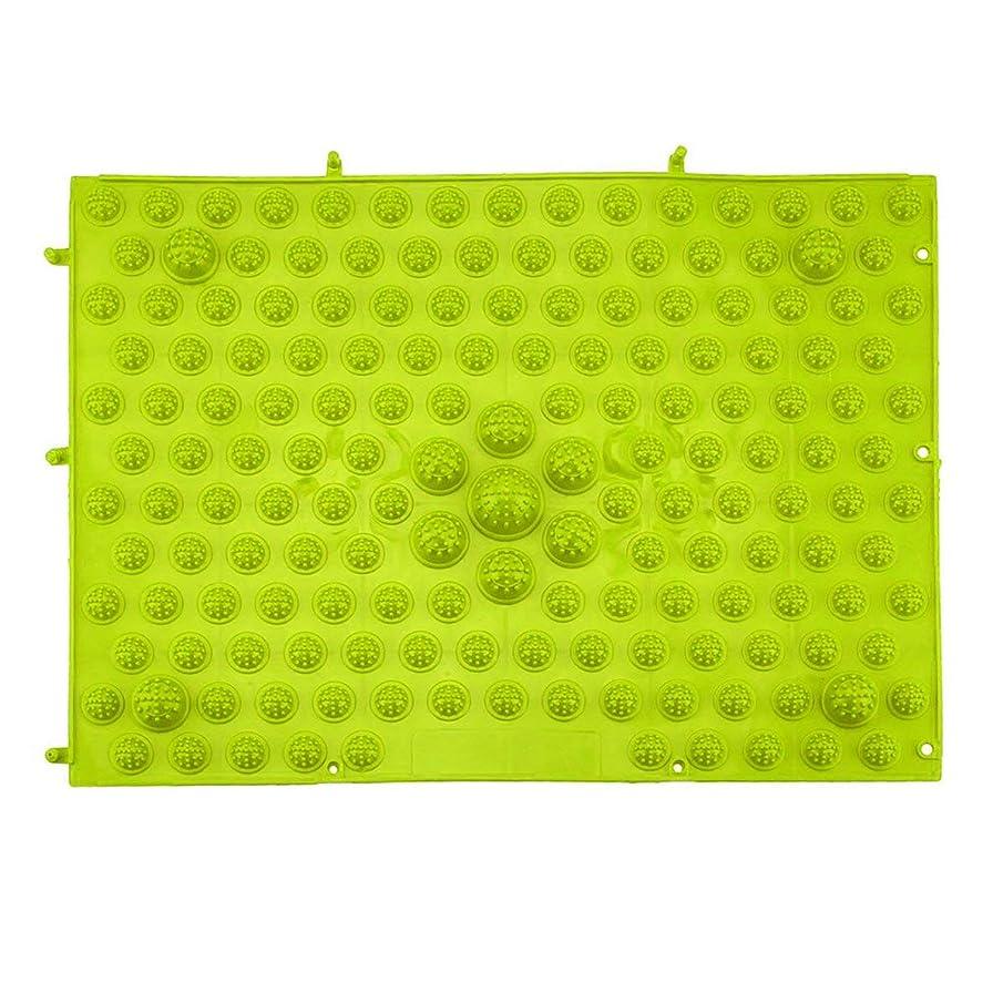 セットする脅迫クレジット指圧フットマットランニングマンゲーム同型フットリフレクソロジーウォーキングマッサージマット用痛み緩和ストレス緩和37x27.5cm - グリーン