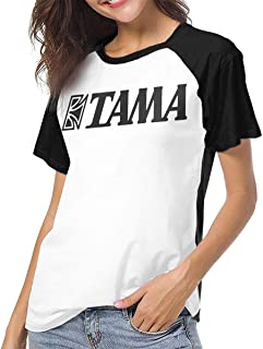 Tama Drums Womens Baseball T Shirt Summer Short Sleeve Crew Neck Shirt Tops Casual Blouses Tee