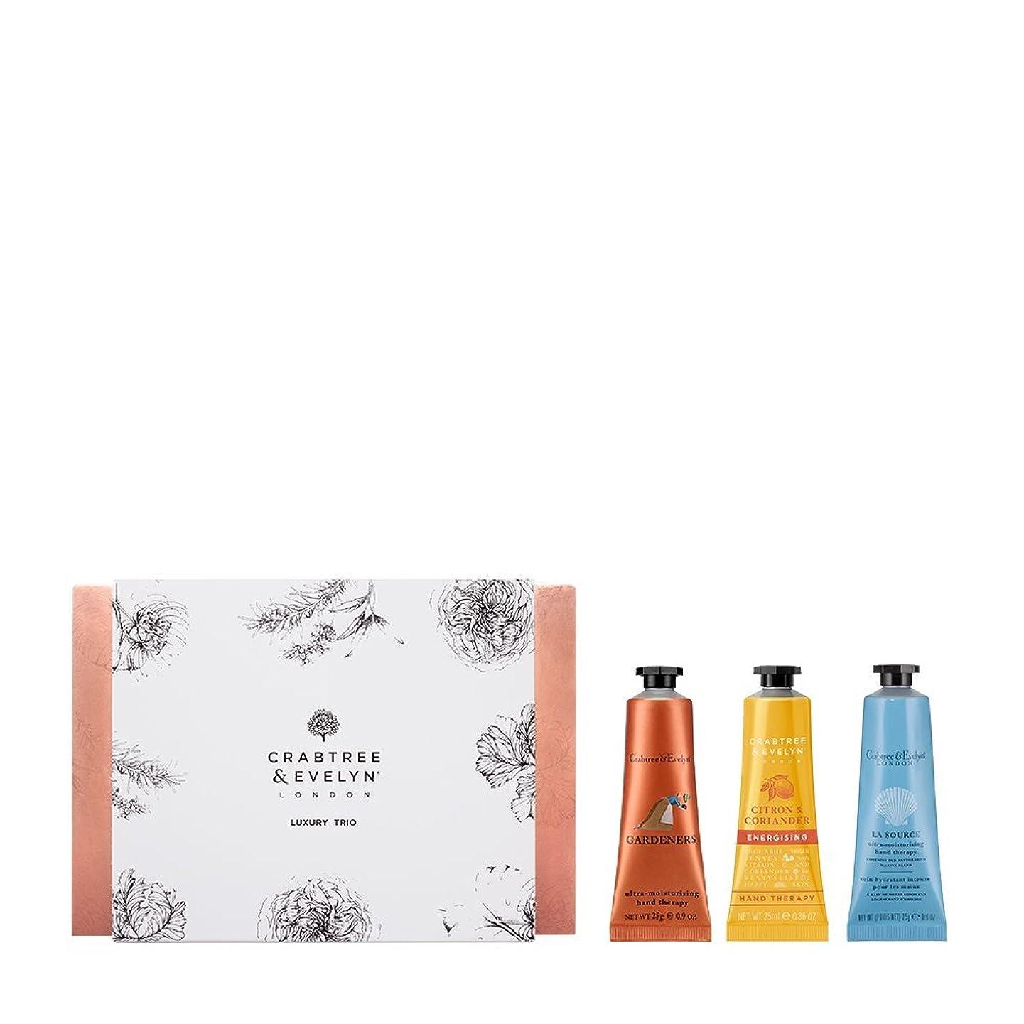 締める笑汚れるクラブツリー&イヴリン Luxury Hand Therapy Trio (1x Citron & Coriander, 1x Gardeners, 1x La Source) 3x25ml/0.86oz並行輸入品