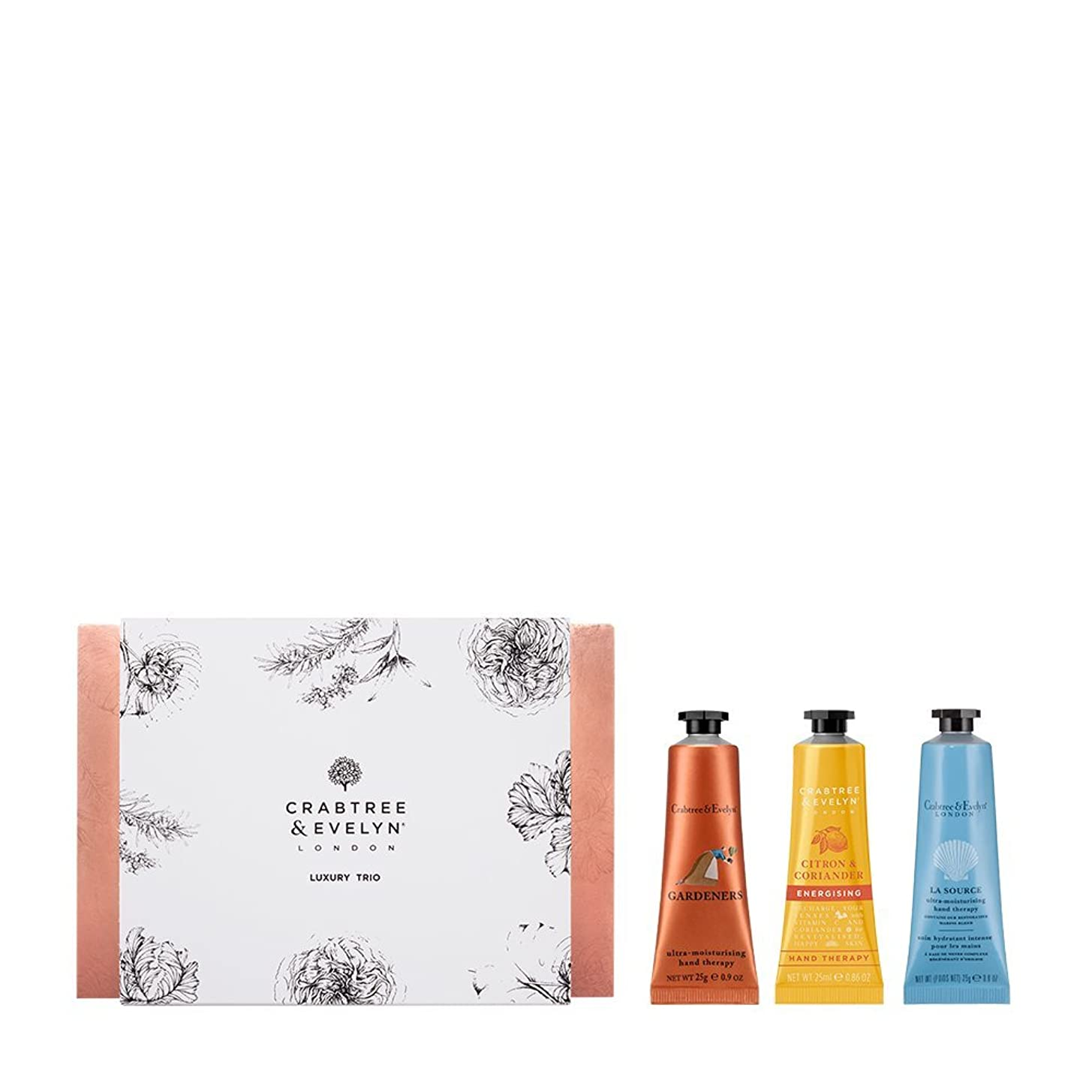 服を着る可愛い在庫クラブツリー&イヴリン Luxury Hand Therapy Trio (1x Citron & Coriander, 1x Gardeners, 1x La Source) 3x25ml/0.86oz並行輸入品