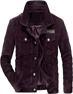 b5edfd813d Lavnis Men s Corduroy Trucker Jacket Casual Stand Collar Button Down Fleece Denim  Jacket