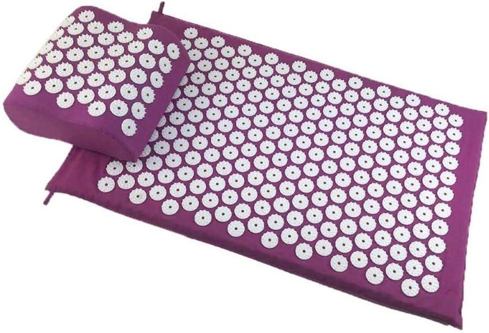 Makango Acupressure 卓出 ショッピング mat Yoga Nail Pillowcase pad Finger Back Bod