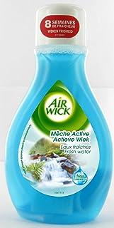 AIR WICK Lot de 2 Désodorisants Mèche Active Eaux Fraîches Flacon 375 ml