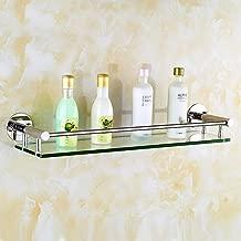 Acero inoxidable baño estante de cristal Cosméticos de baño WC de pared-B