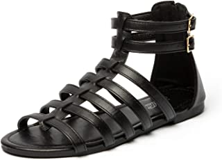 Women's Gladiator Flat Strap Sandals Two Ankle Buckle