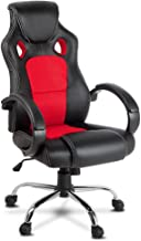 Artiss Adjustable Racing Office Gaming Chair Executive Desk Chair with Casters (Red)