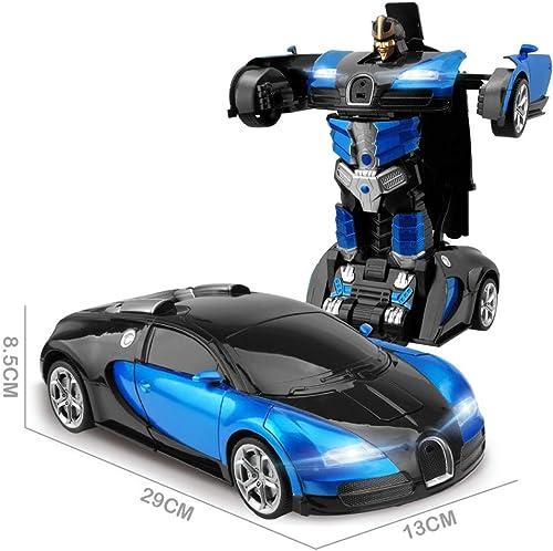 solo cómpralo WOYQS Colectores Modelo Car Car Car 2.4 Inducción Transformación Robot Car 1 14 Deformación RC Car Toy Robot Eléctrico Modelos Juguetes Regalos Modelo De Coche For Niños Ornamentos Decorativos Regalos Colecci  están haciendo actividades de descuento