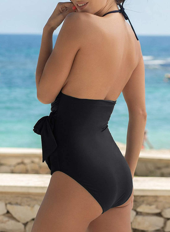 GOSOPIN Damen Top Oberteil Fehlende Größe Damen Kleid Damen Badeanzug Badeanzug Schwarz