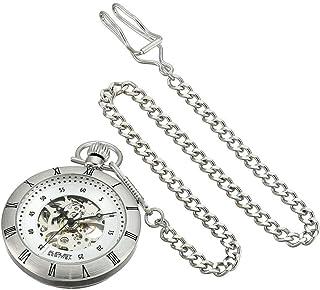 August Steiner Men's Automatic Skeleton Pocket Watch