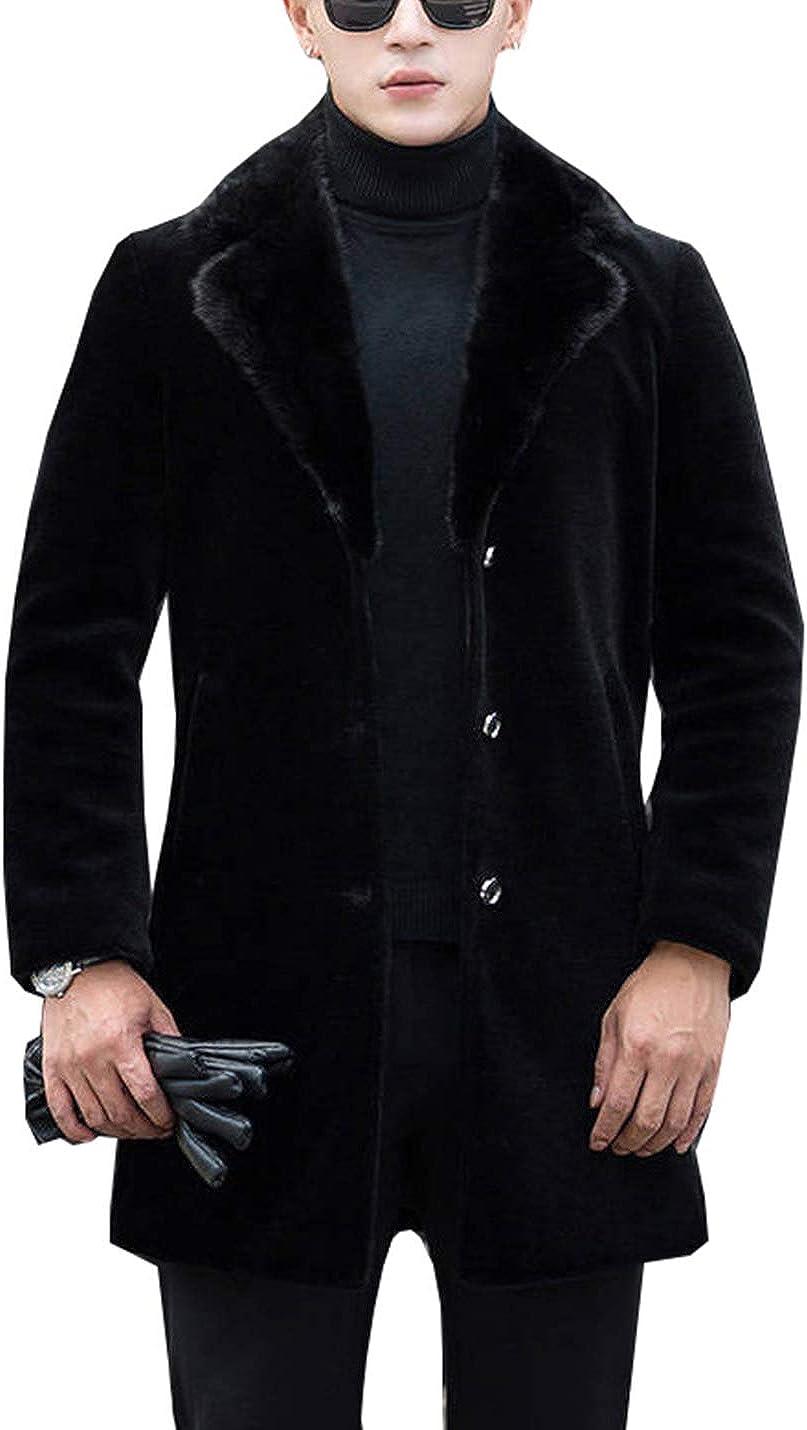 PAODIKUAI Men's Luxurious Faux Fur Popularity Suit Blazer Casual Tr safety Jackets