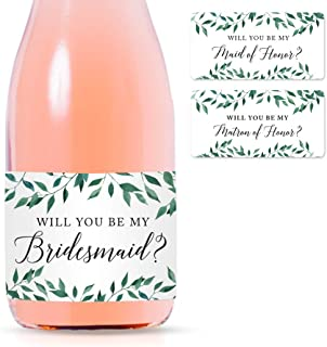 custom wine labels bridesmaids
