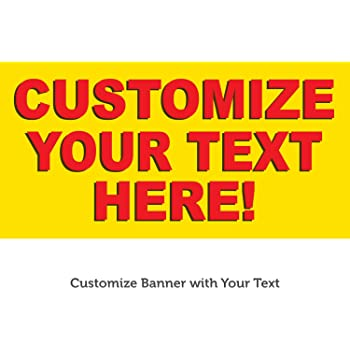 Vinyl Banner Multiple Sizes Auction Today Yellow Background Black Red Business Outdoor Weatherproof Industrial Yard Signs 8 Grommets 48x96Inches