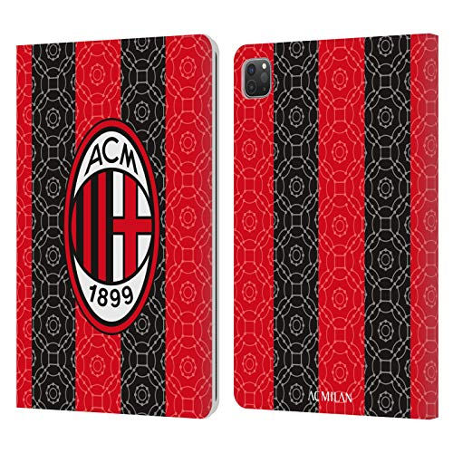 Head Case Designs Officially Licensed AC Milan Home 2020/21 Crest Kit Leather Book Wallet Case Cover Compatible with Apple iPad Pro 11 (2020)