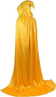 Famajia Hooded Cloak Velvet Cape Full Length Robe for Unisex Halloween Cosplay Costumes