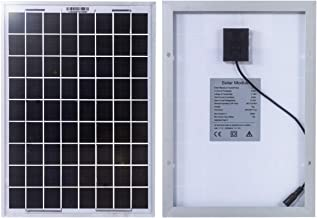 12V 15W Waterproof Solar Panel with Line Clip//Suction Cups for Camping Light