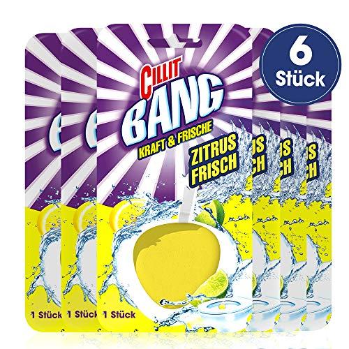 Cillit Bang Kraft und Frische WC-Spüler Zitrus-Frisch, 6er Pack (6 x 40 g)