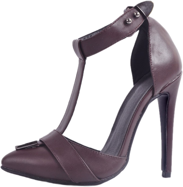 CASSOCK Ladies Handmade High Heel T-Strap Pointy Summer Fashion shoes