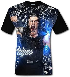 Roman Reigns Men's Top T-Shirt Fashion Short Sleeve Tee Shirts for Men