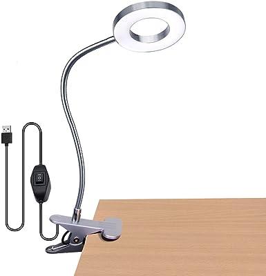 Lámpara flexo con pinza luz de escritorio, Protección ocular ...
