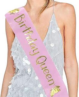 Dsaren Anniversaire Sash Echarpe Miss Birthday Sash Birthday Girl Echarpe pour Femme Fille Fournitures De Fête Miss Annive...