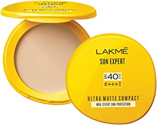 Lakmé Sun Expert Ultra Matte Spf 40 Pa+++ Compact, Non Greasy Non Sticky, For Indian Skin, Gives Even-Tone Complexion, 7 g
