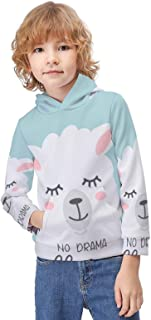 Kid's Novelty Sweater Non-Slip Llama Thicken Hoodies Warm Hooded Pullover Top Sweatshirt-