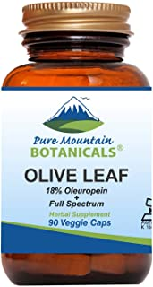 Sponsored Ad - Olive Leaf Extract Capsules - 90 Kosher Vegan Caps Now with 400mg Organic Olive Leaf and Potent Extract