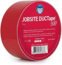 """IPG JobSite DUCTape, Colored Duct Tape, 1.88"""" x 20 yd, Red (Single Roll)"""