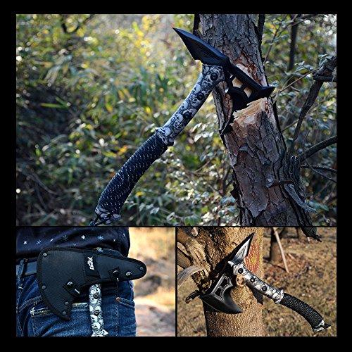 CIMA Tactical Tomahawk Tactical Survival Hunting Camping Axe, Nylon Glass Fiber Handle/Nylon Sheath (Black)