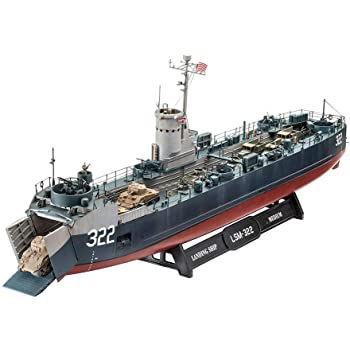 ドイツレベル 1/144 アメリカ海軍 中型揚陸艦 LSM (ボフォース40mm機関砲) プラモデル 05169