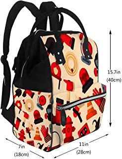 Diaper Bags Backpack Designed Firefighter Elements Protection Large Capacity Muti-Function Travel Backpack