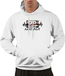 Men's Hoodie Sweatshirt Nostalji ?Ark?lar Remix Set 80'ler 90'lar New Classic Minimalist Style White