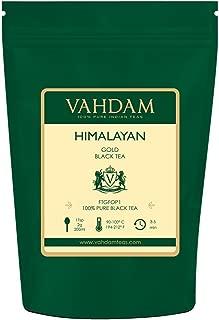 VAHDAM, Himalayan Gold Black Tea (50 Cups)   100% PURE Black Tea Leaves with GOLDEN TIPS   ROBUST, RICH & FLAVORY Loose Tea   Black Tea Loose Leaf   Brew as Hot Tea, Iced Tea or Kombucha Tea   3.53oz