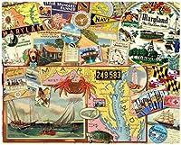"Magic Slice Maryland The Old Line State Non-Slip Flexible Cutting Board, 12"""" x 15"""" [並行輸入品]"