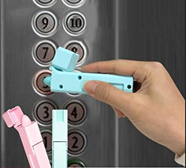 Clean Life Sanitary Tool, Zero Touch Door Handle Opener, Elevator Button, Avoid Contact with Germs, Safe, Reliable - Blue
