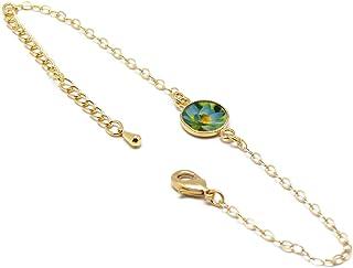 LOTUS Fiore Bracciale Regolabile Fiore Verde Blu Giallo Oro Regali personalizzati Natale Compleanno Gioiello Cerimonia Mat...