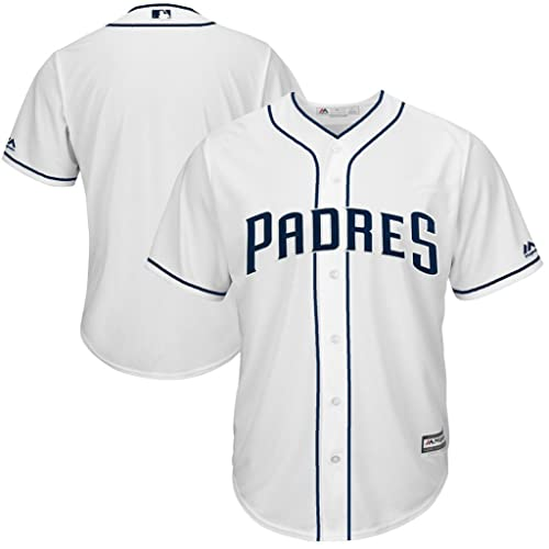 7f9e8861e25 VF San Diego Padres MLB Mens Majestic Cool Base Replica Jersey White Big   Tall  Sizes