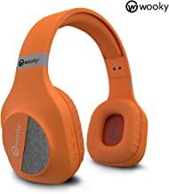 WOOKY Scout Wireless Bluetooth Headphone with Mic and Deep Bass Orange