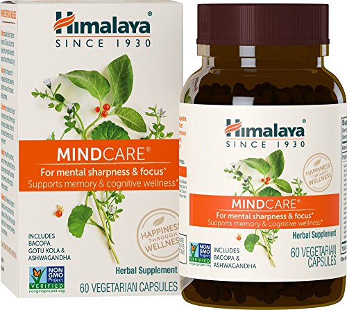 Himalaya MindCare/Mentat, Nootropic Brain Supplement Booster for Mental Sharpness, Focus, Memory, and Cognitive Wellness, 1170 mg, 60 Capsules, 1 Month Supply