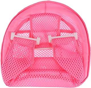 Toyvian ベビーバスサポートシートバスタブ用新生児シャワーメッシュ幼児用滑り止めバスシート(ピンク)