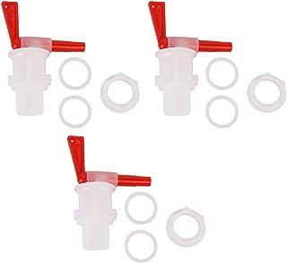Bierkraan, 3 stks Huishoudelijk Brouwen Bier Bottelen Emmer Plastic Rode Tap Vervanging Biertap