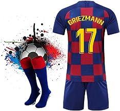 ZHPBHD 19-20 De Barcelona Uniformes Casa Y Los Jerseys Ausentes del Fútbol Se Adaptan A Los Adultos Uniformes Nº 10 Formación Messi (Color : E, Size : XL)