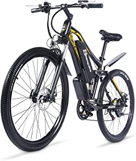 "Shengmilo 27.5""電動アシスト自転車、48V / 17Ahリムーバブルリチウム電池、、7スピード通勤電動自転車"