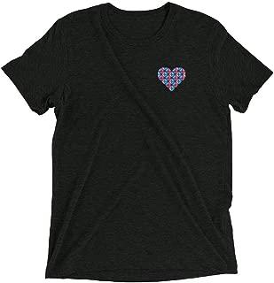 Unisex Heartbeat T-Shirt - Tri-Blend Fabric - White, Gray, Charcoal Black, Blue, Pink - XS, S, M, L, XL, 2XL, 3XL, 4XL
